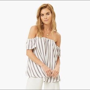Striped Off-the-Shoulder Top (NEW)